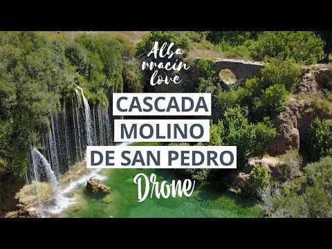 📷🚁 [DRONE] CASCADA del Molino de San Pedro Teruel (El Vallecillo - Sierra Albarracin)