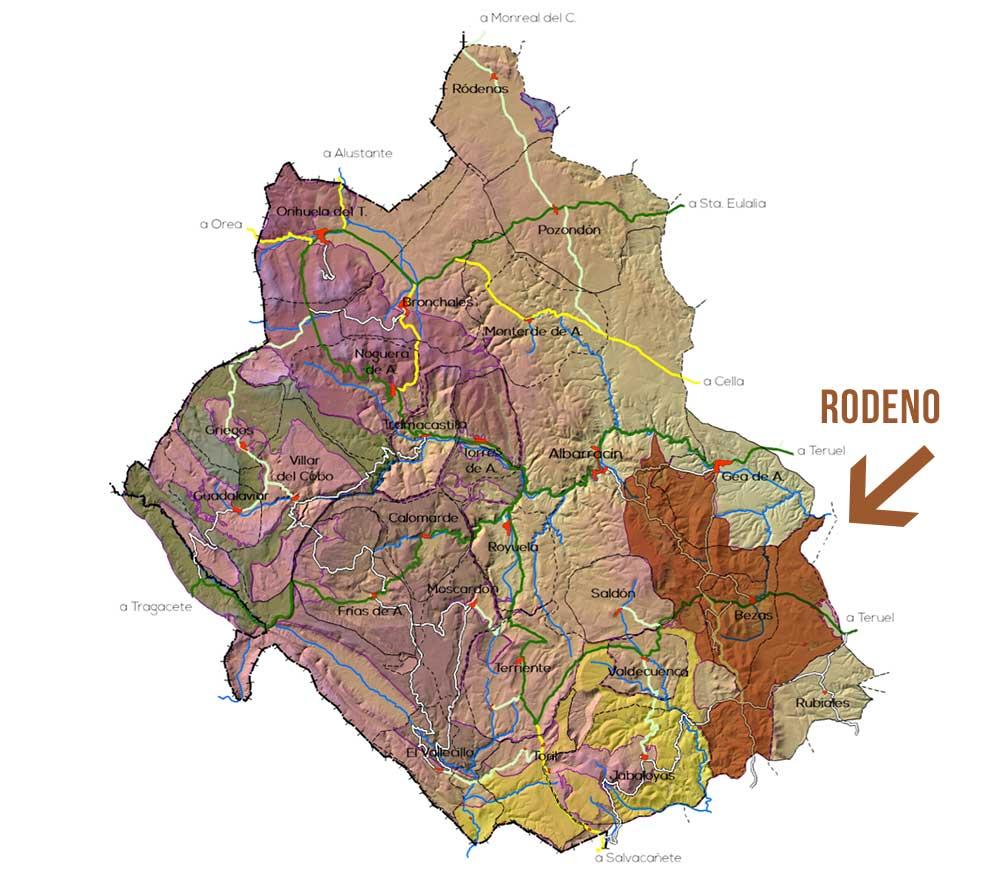 Plano del Rodeno en el parque Micológico Albarracin
