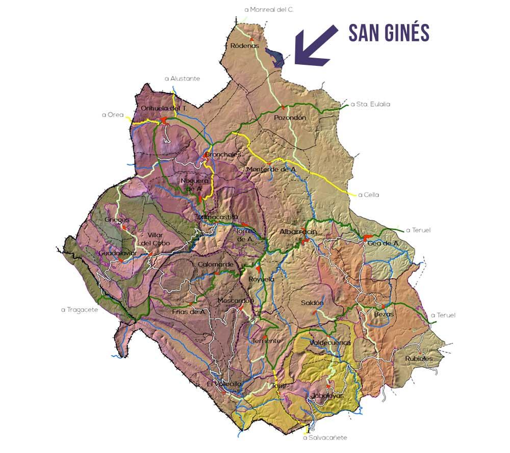 Plano de la Zona San Ginés