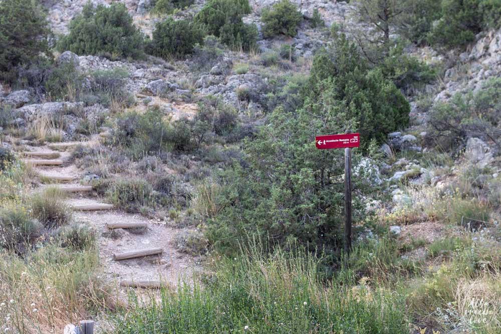 Fotografía del acceso al Acueducto Romano de Gea
