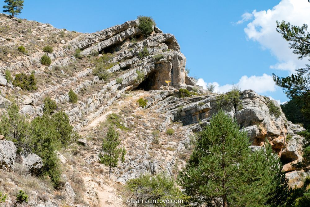 Fotografía del recorrido de la ruta del barranco de la hoz de calomarde