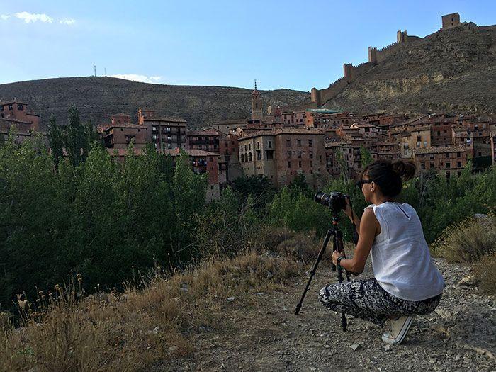 Fotografia general de Albarracin desde el sendero del guadalaviar