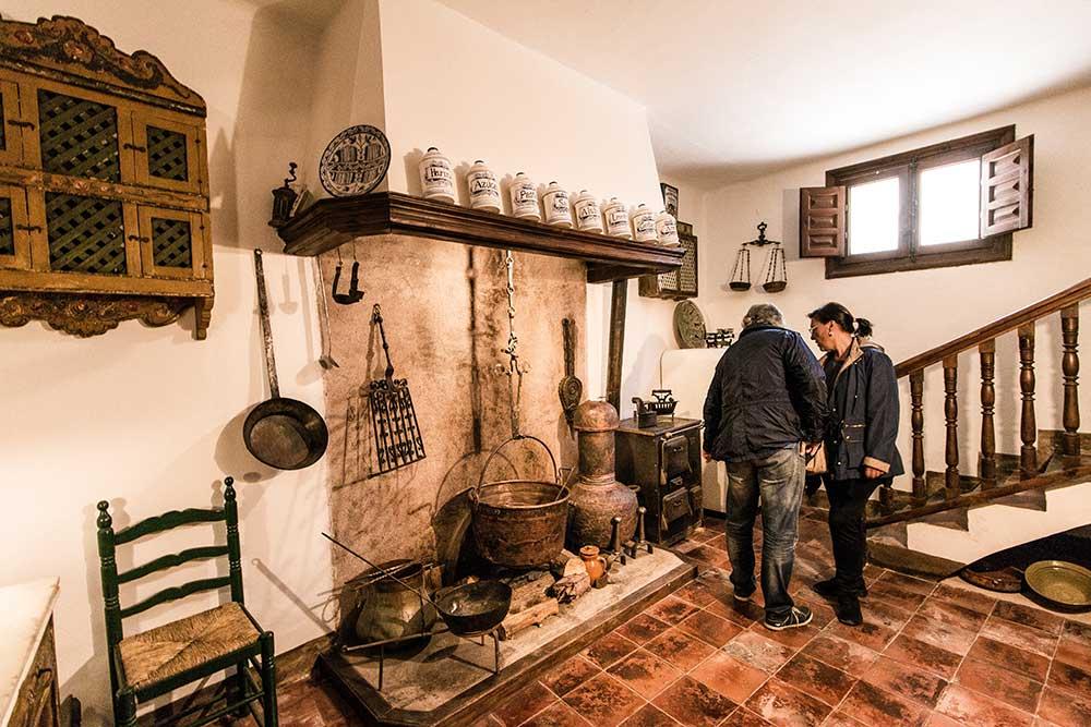 Imagen de la Cocina antigua en la Casa Museo de los Perez y Toyuela en Albarracin
