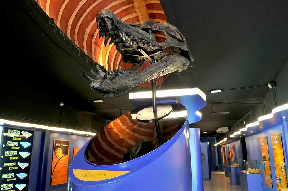 Imagen de la exposición de Dinopolis en Albarracin