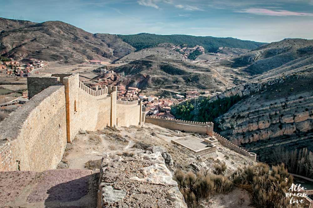 Fotografía desde lo alto de la muralla de Albarracin